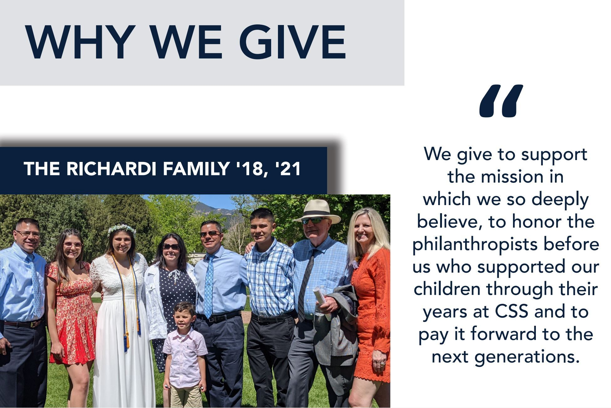 Why We Give - The Richardi Family '18, '21
