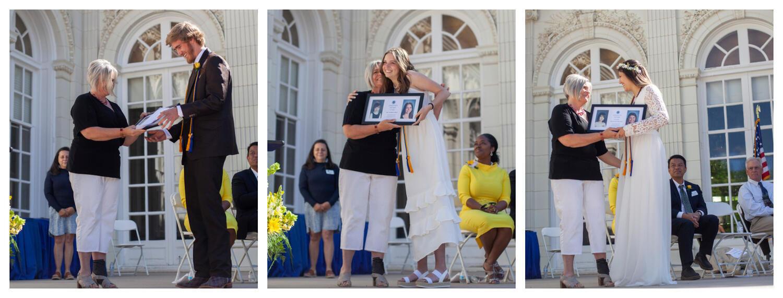 Ethan Hedden, Zoe Bain, and Whitney Richardi receive the Longevity Awards