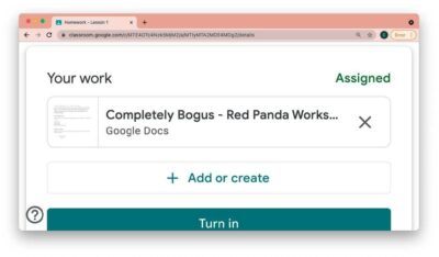 eLearning - Turning an assignment in via Google Classroom