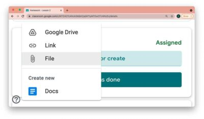 eLearning - Turning an assignment in to Google Drive 1