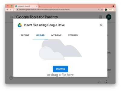 eLearning - Turning an assignment in to Google Drive 2
